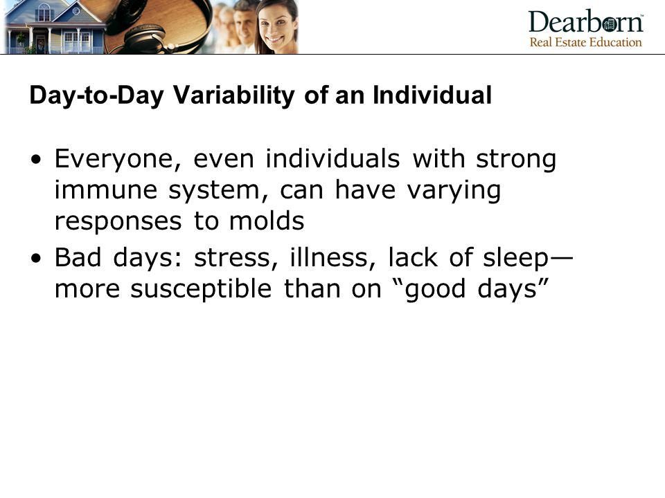 Day-to-Day Variability of an Individual