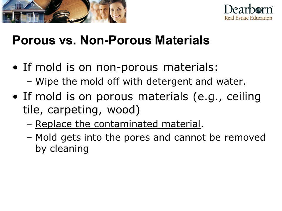 Porous vs. Non-Porous Materials