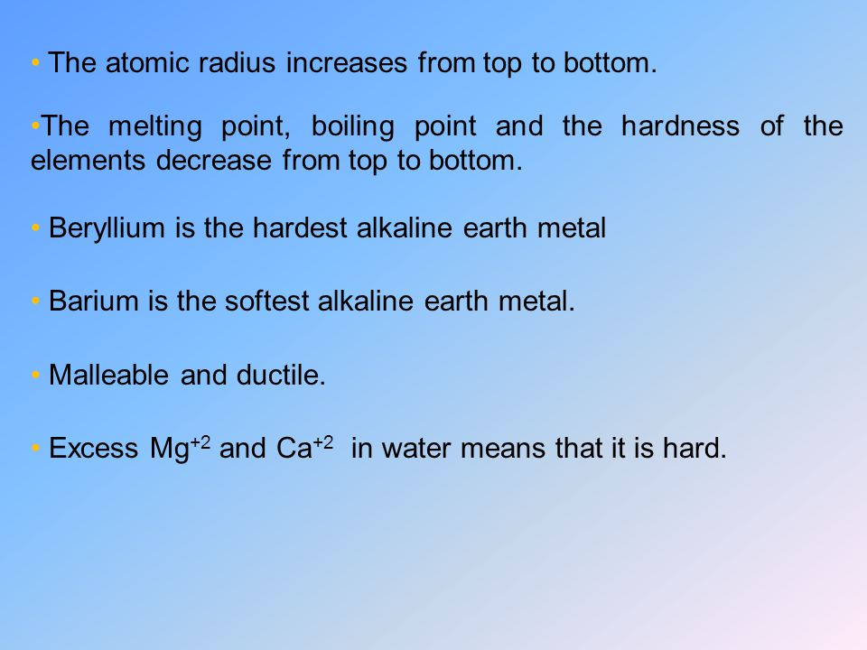 The atomic radius increases from top to bottom.