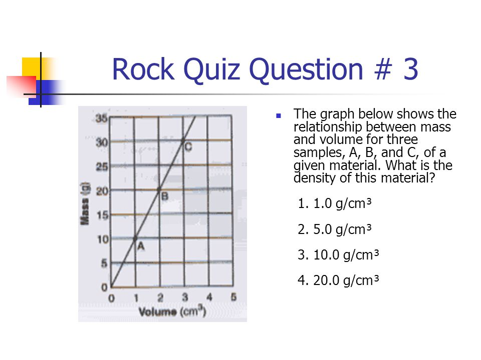 Rock Quiz Question # 3