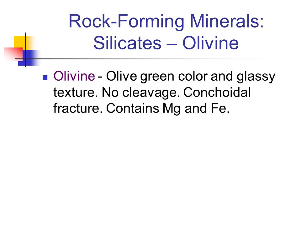 Rock-Forming Minerals: Silicates – Olivine