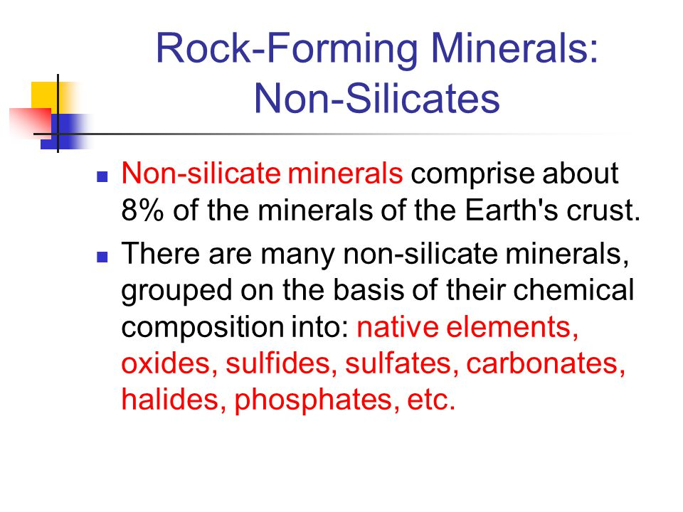 Rock-Forming Minerals: Non-Silicates