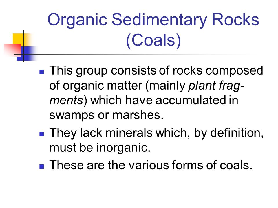 Organic Sedimentary Rocks (Coals)