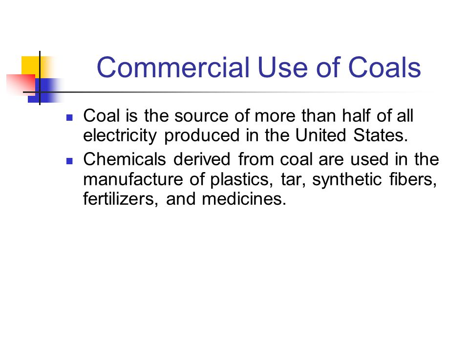 Commercial Use of Coals