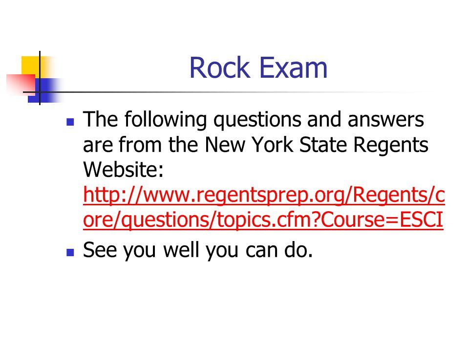 Rock Exam