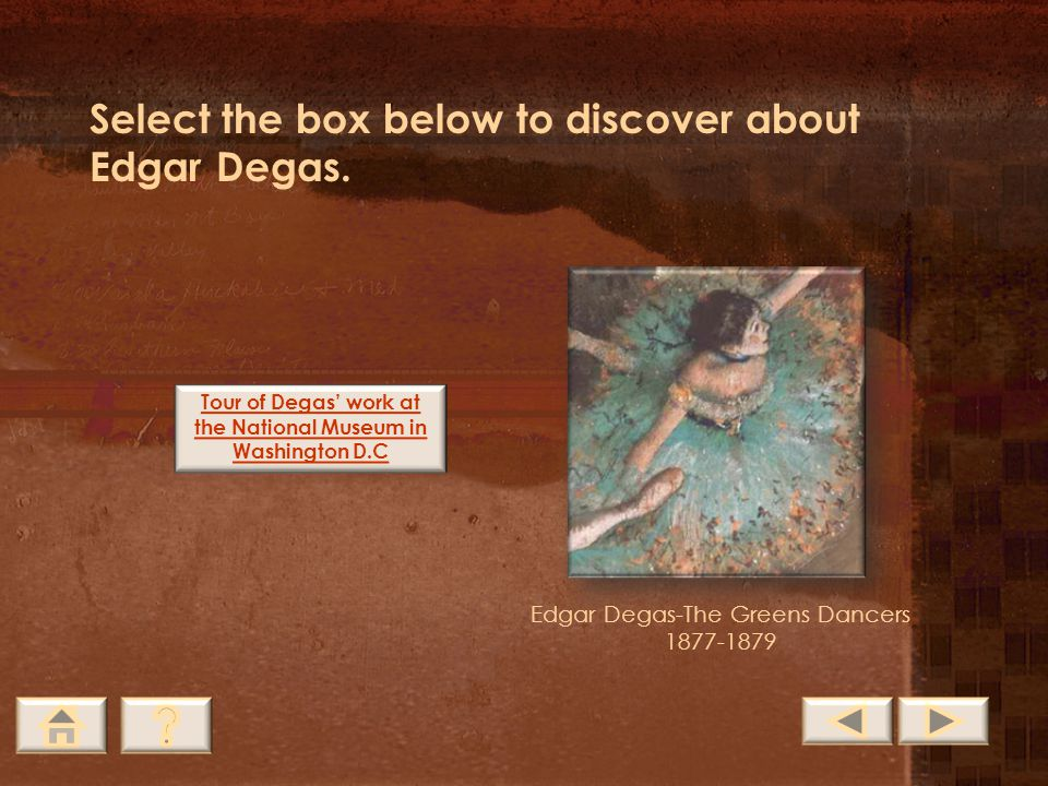 Tour of Degas' work at the National Museum in Washington D.C