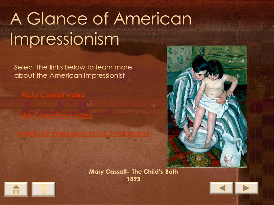 Mary Cassatt- The Child's Bath