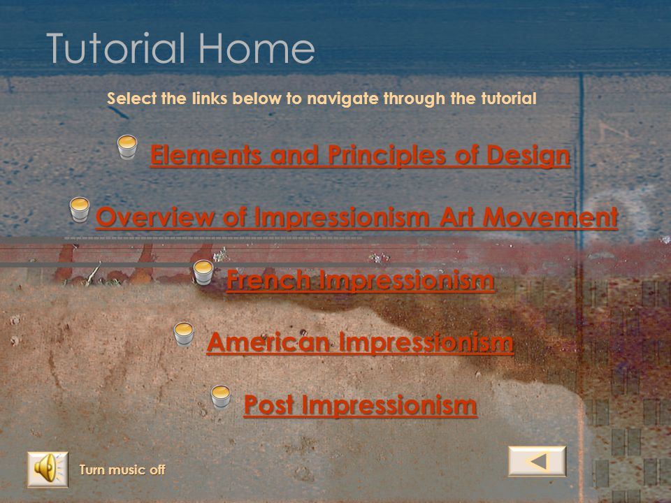 Tutorial Home Elements and Principles of Design
