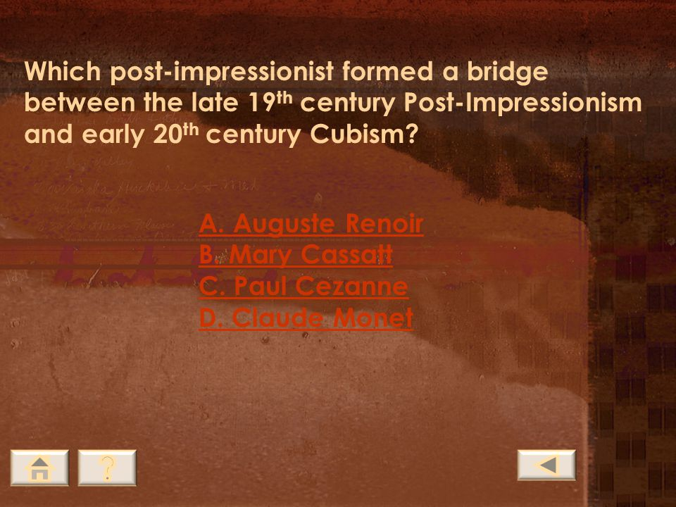 Which post-impressionist formed a bridge between the late 19th century Post-Impressionism and early 20th century Cubism