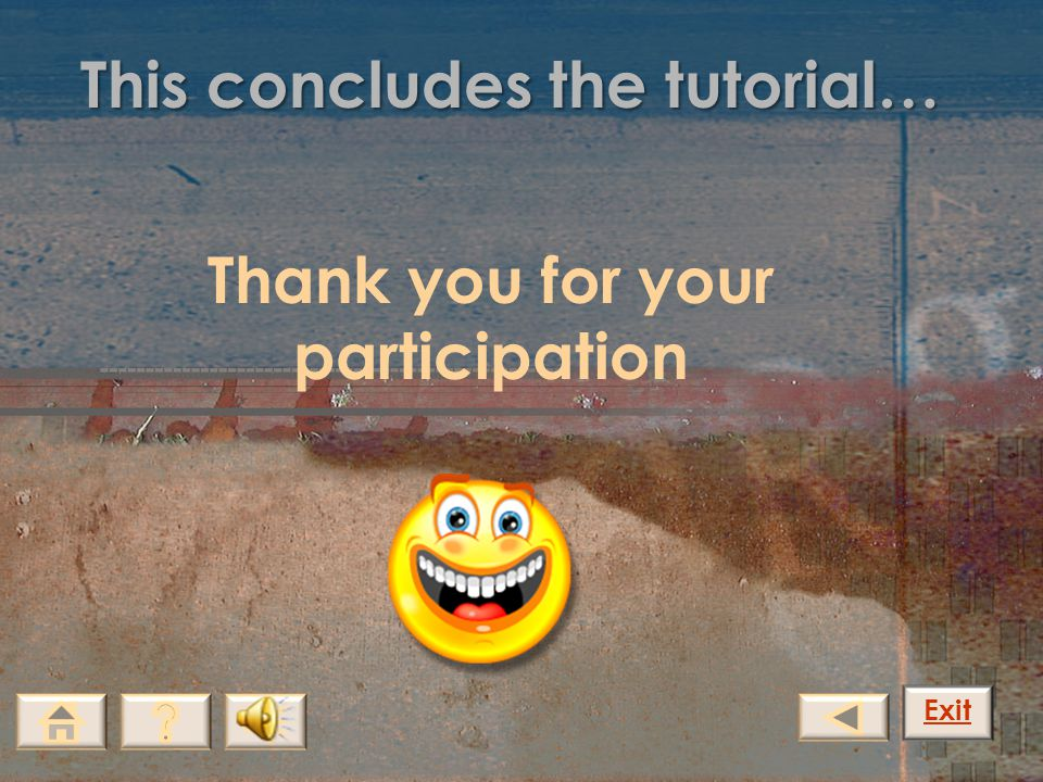 This concludes the tutorial…