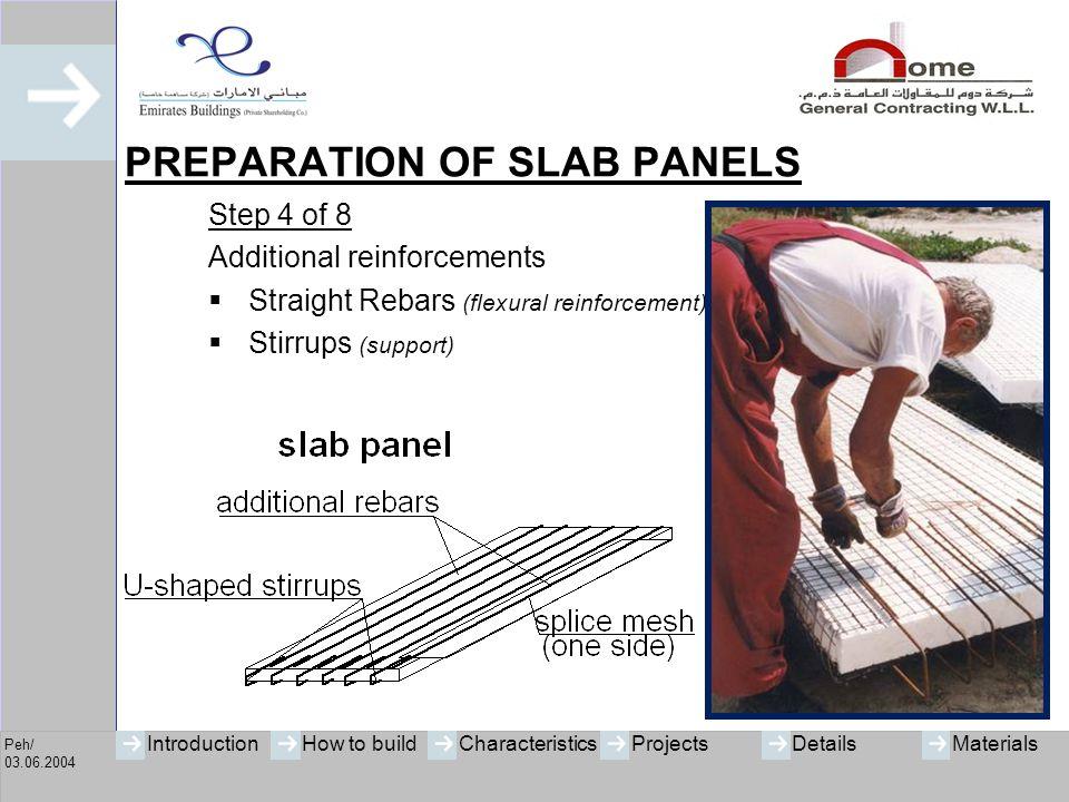 PREPARATION OF SLAB PANELS