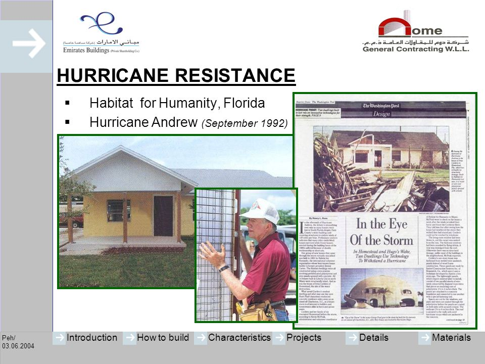 HURRICANE RESISTANCE Habitat for Humanity, Florida