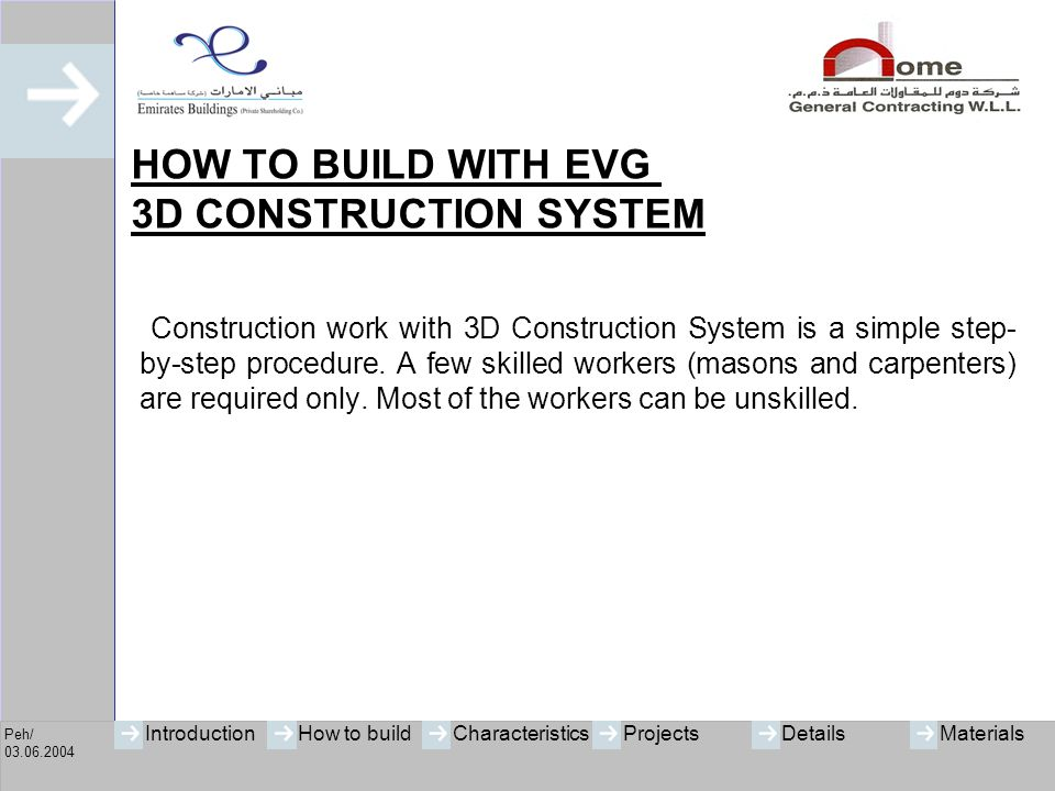 HOW TO BUILD WITH EVG 3D CONSTRUCTION SYSTEM