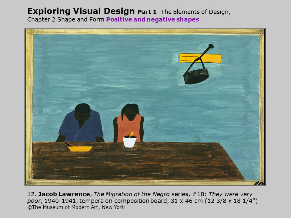 Exploring Visual Design Part 1 The Elements of Design, Chapter 2 Shape and Form Positive and negative shapes