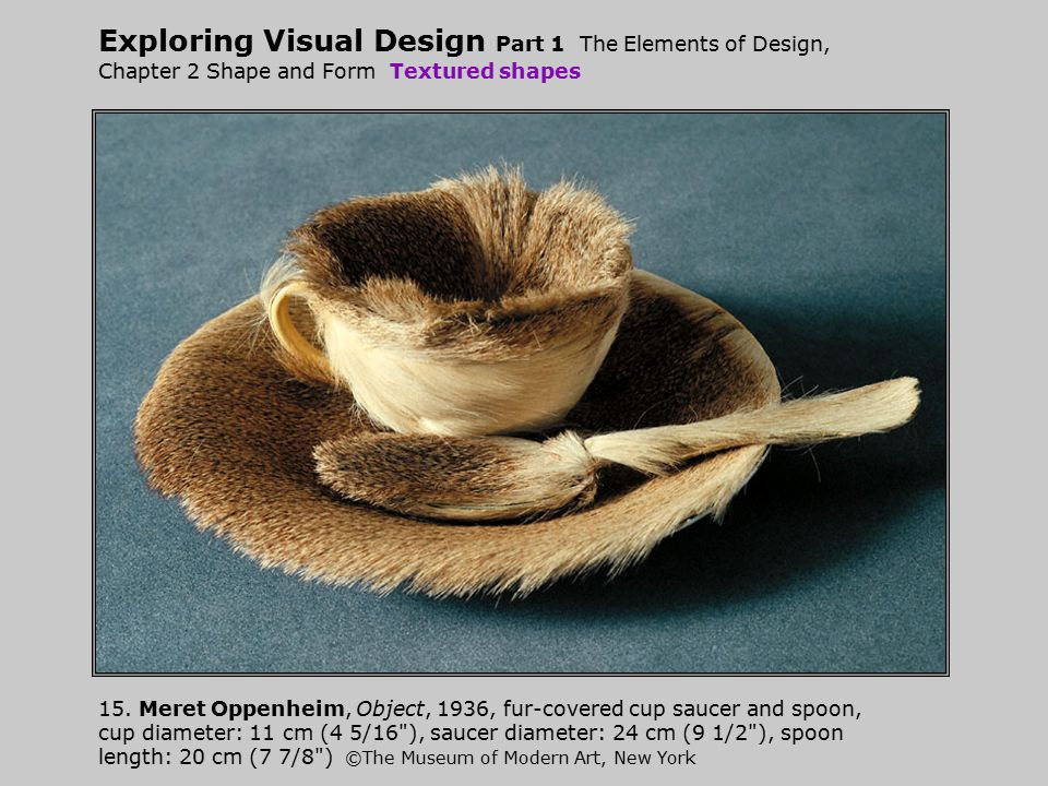 Exploring Visual Design Part 1 The Elements of Design, Chapter 2 Shape and Form Textured shapes