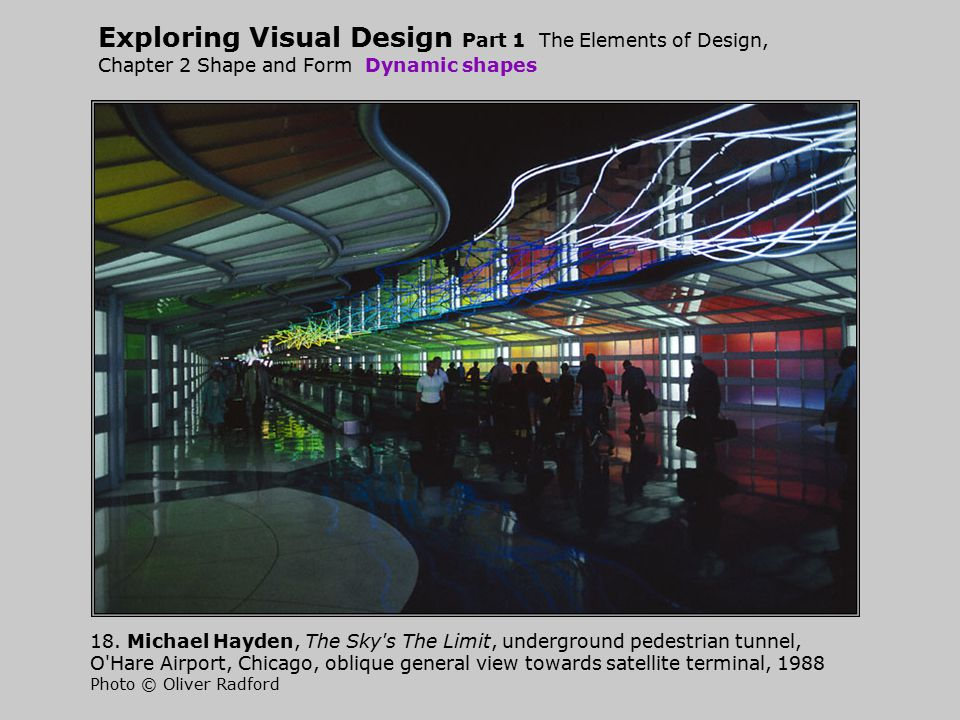 Exploring Visual Design Part 1 The Elements of Design, Chapter 2 Shape and Form Dynamic shapes