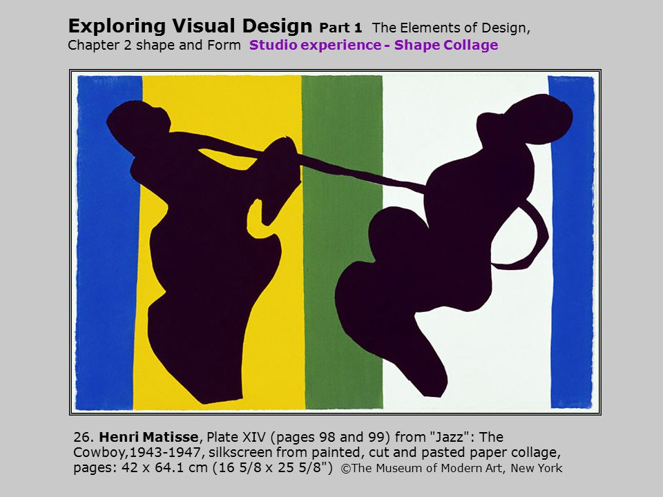 Exploring Visual Design Part 1 The Elements of Design, Chapter 2 shape and Form Studio experience - Shape Collage