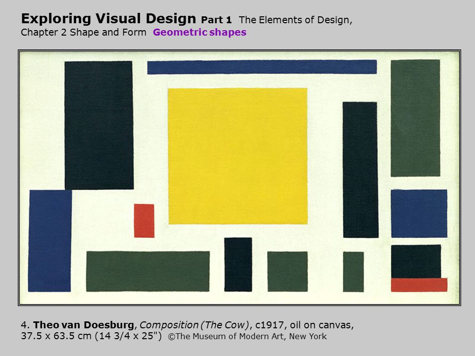 Exploring Visual Design Part 1 The Elements of Design, Chapter 2 Shape and Form Geometric shapes