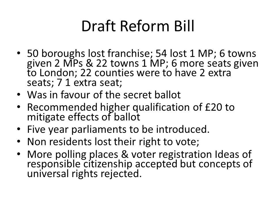 Draft Reform Bill