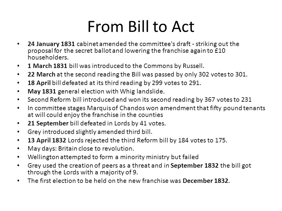 From Bill to Act