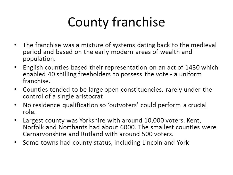 County franchise
