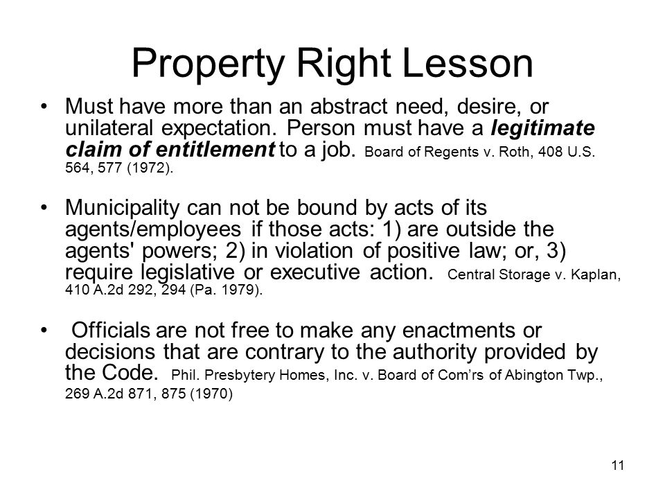 Property Right Lesson