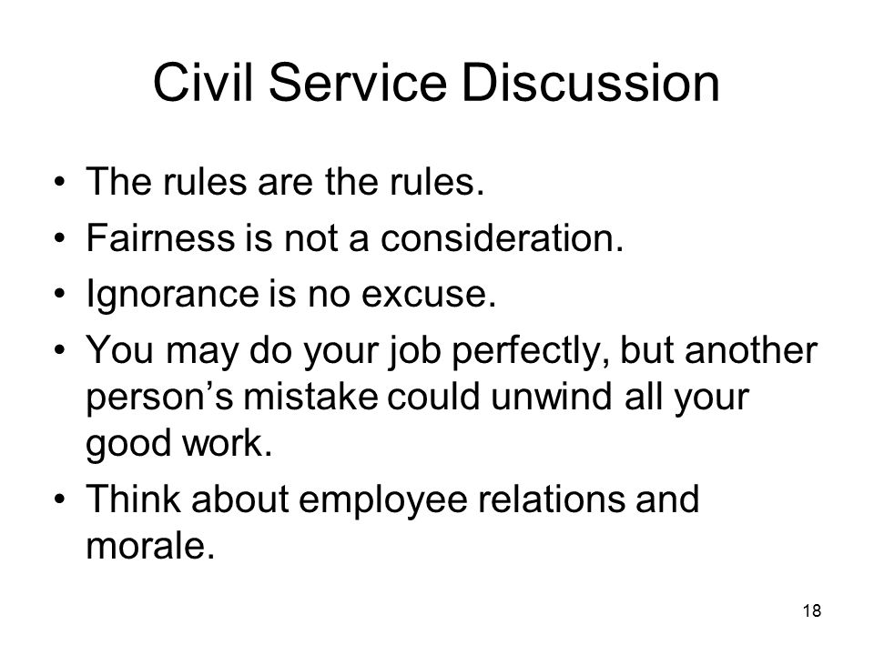 Civil Service Discussion