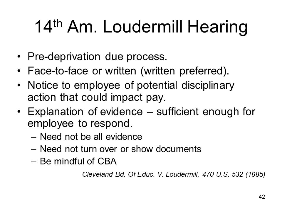 14th Am. Loudermill Hearing