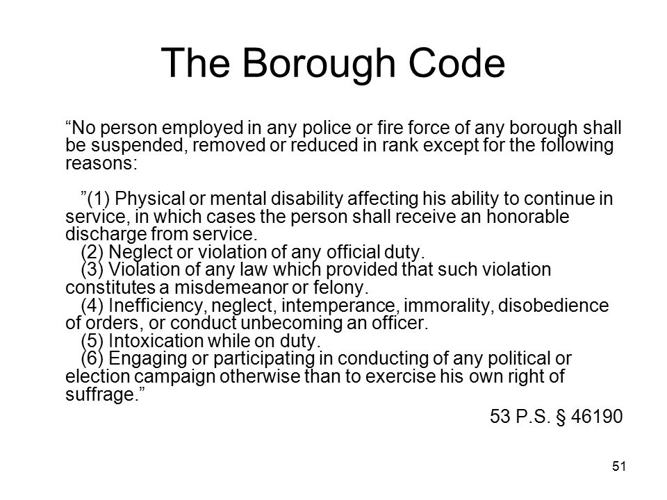 The Borough Code
