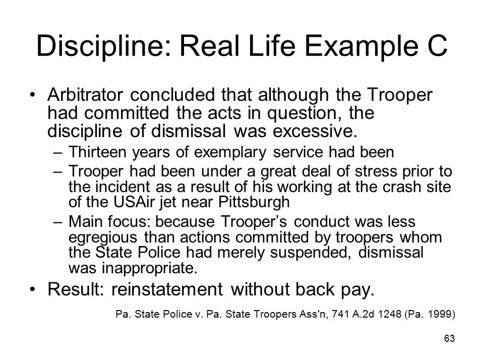 Discipline: Real Life Example C