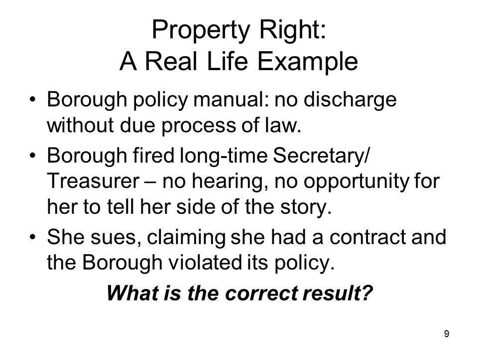 Property Right: A Real Life Example