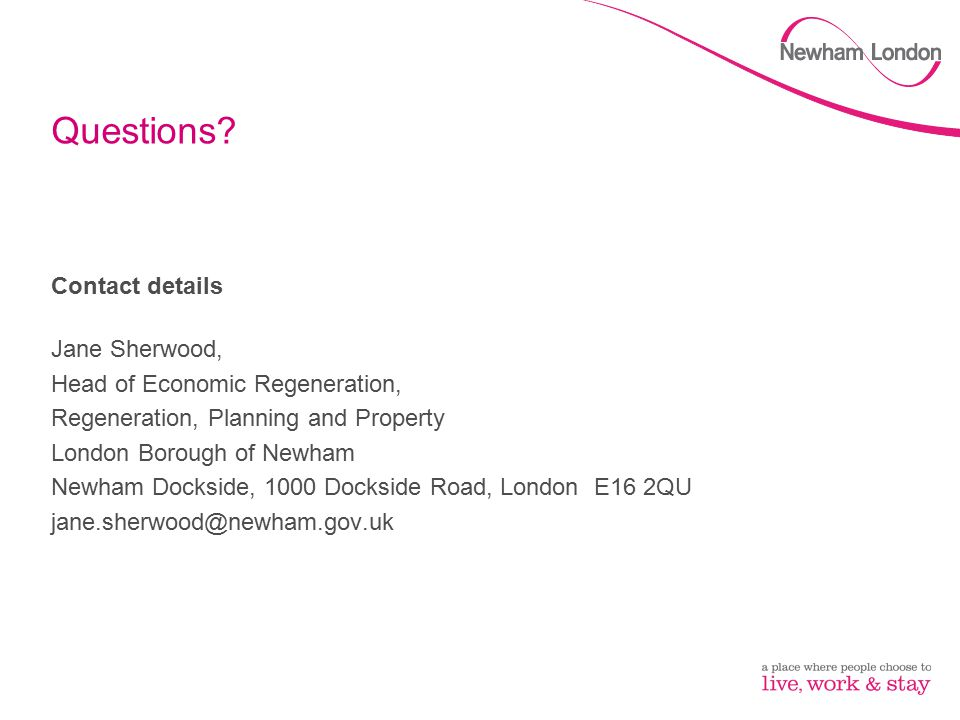 Questions Contact details Jane Sherwood,