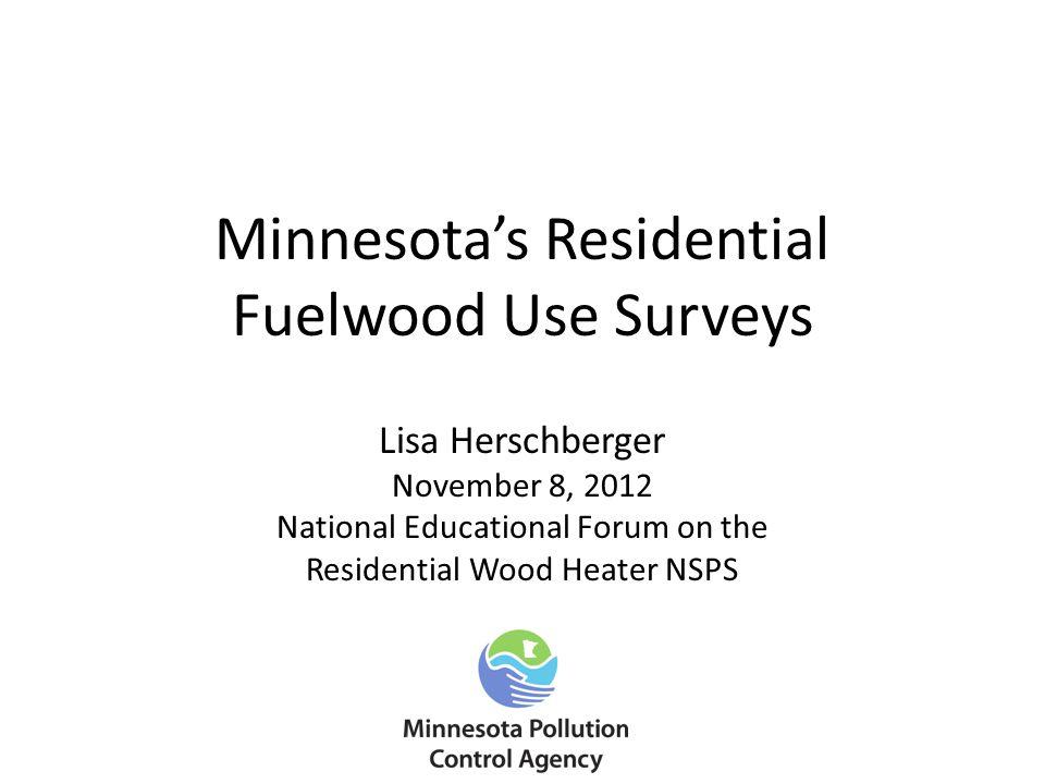 Minnesota's Residential Fuelwood Use Surveys