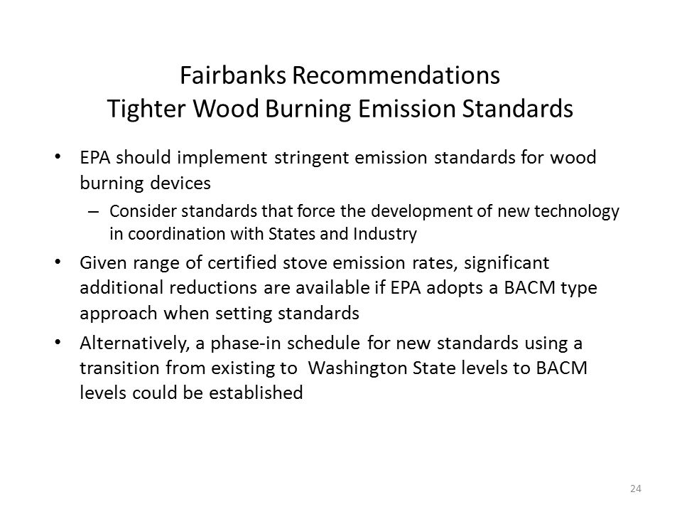 Fairbanks Recommendations Tighter Wood Burning Emission Standards