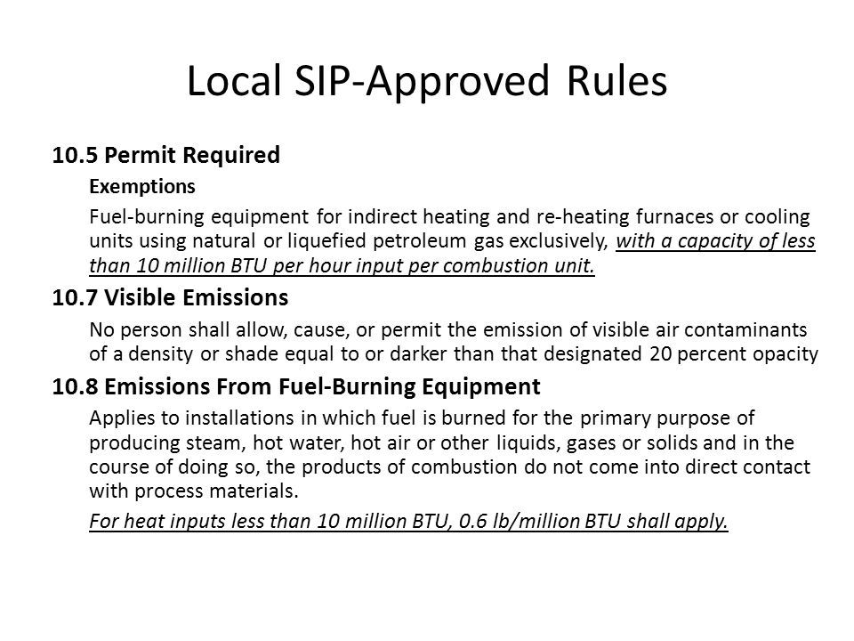 Local SIP-Approved Rules