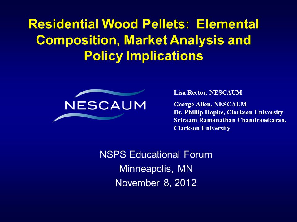 NSPS Educational Forum Minneapolis, MN November 8, 2012