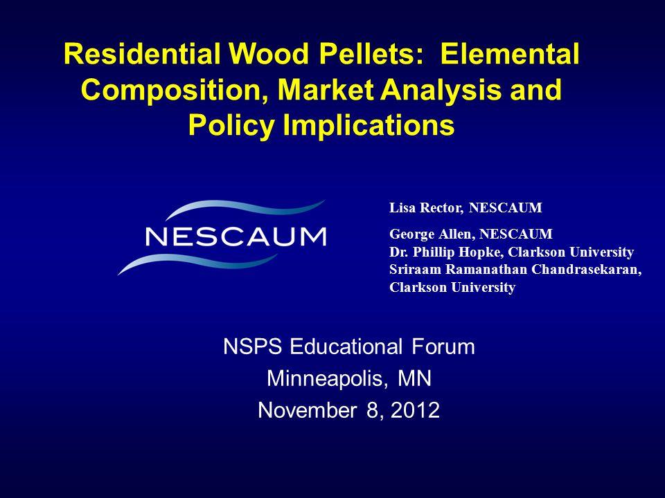 NSPS Educational Forum Minneapolis, MN November 8, 2012