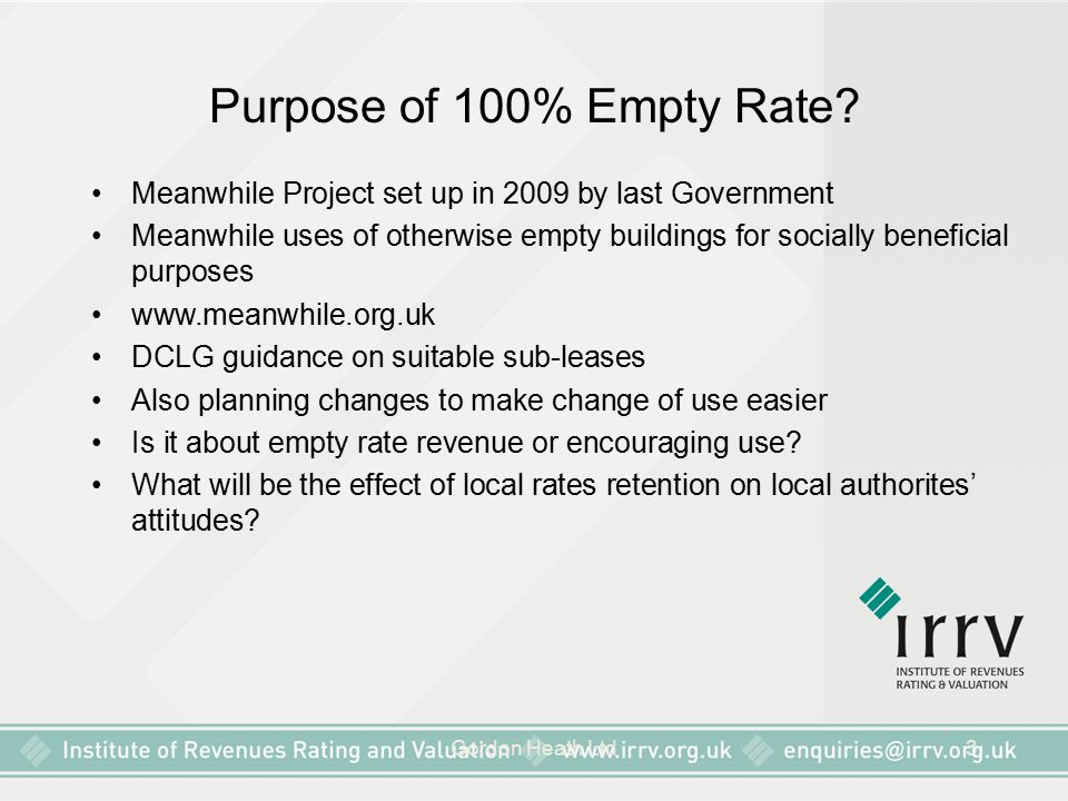 Purpose of 100% Empty Rate Meanwhile Project set up in 2009 by last Government.