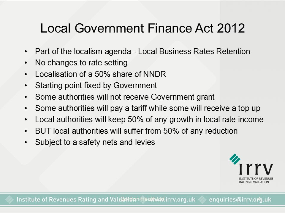 Local Government Finance Act 2012