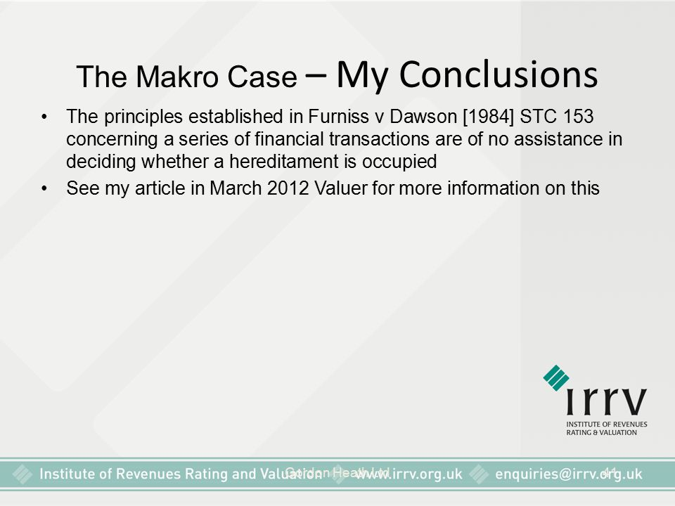 The Makro Case – My Conclusions
