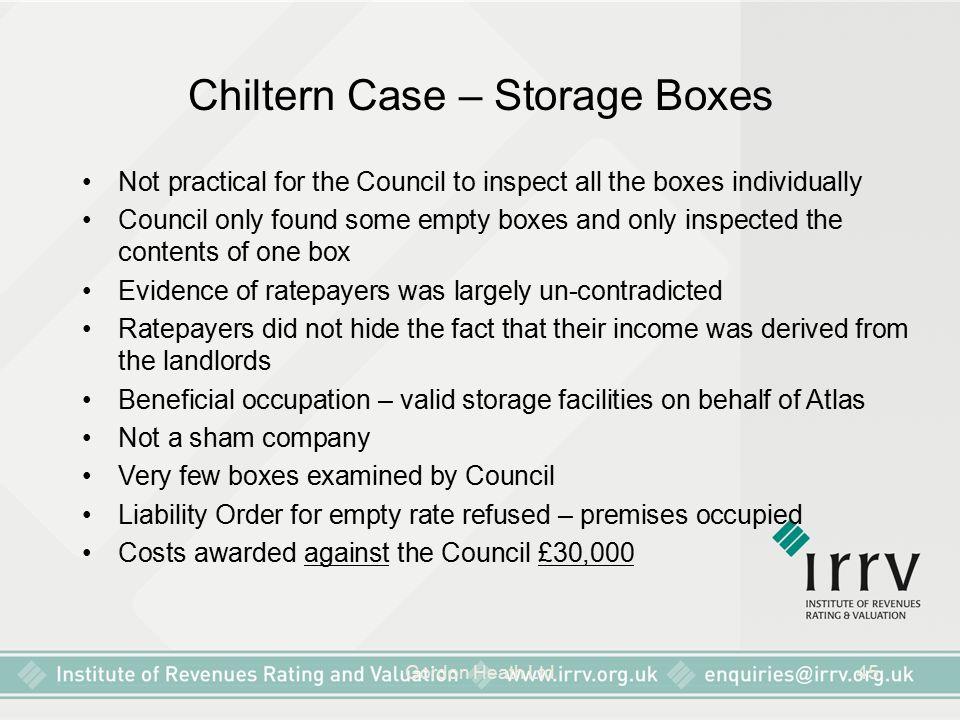 Chiltern Case – Storage Boxes