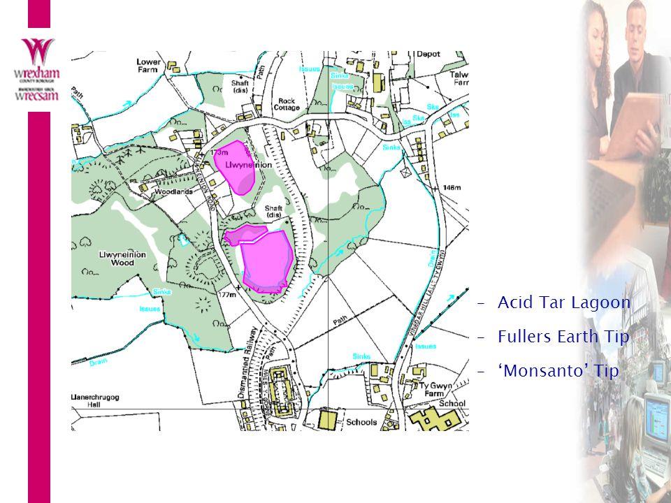 Acid Tar Lagoon Fullers Earth Tip 'Monsanto' Tip