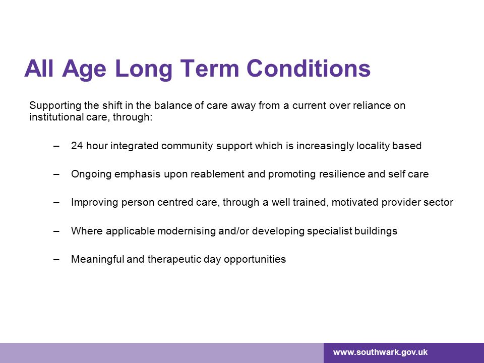 All Age Long Term Conditions