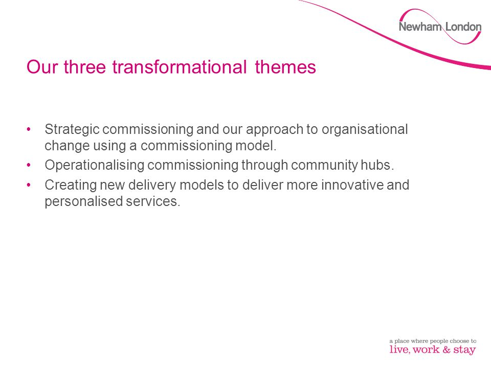 Our three transformational themes