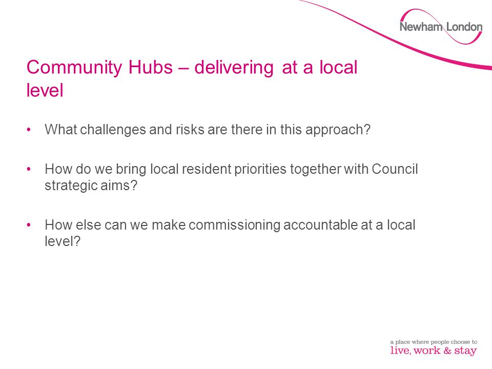 Community Hubs – delivering at a local level