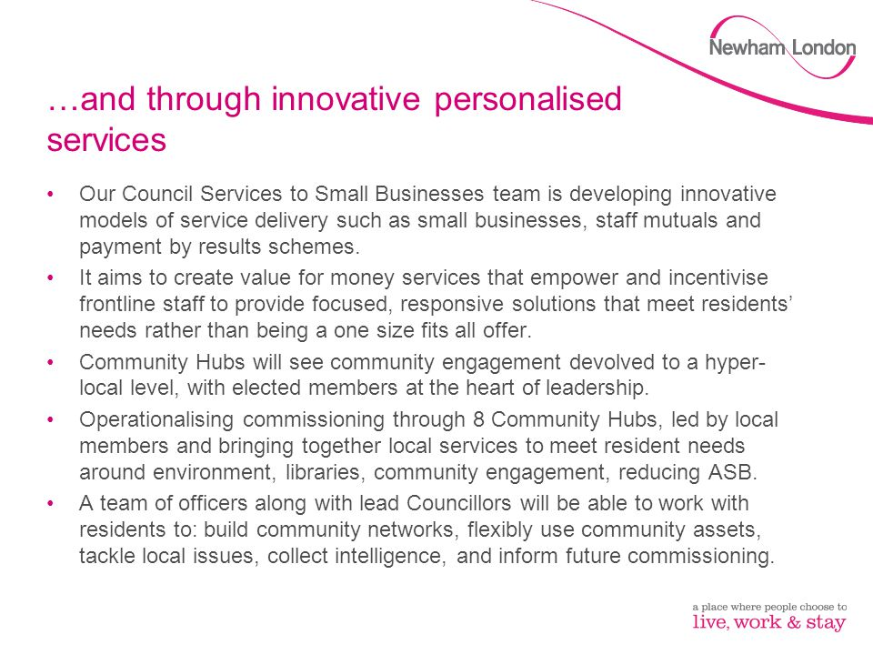 …and through innovative personalised services