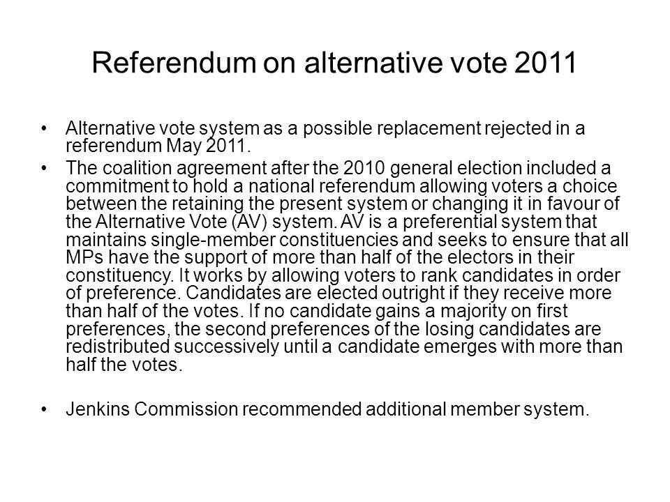 Referendum on alternative vote 2011
