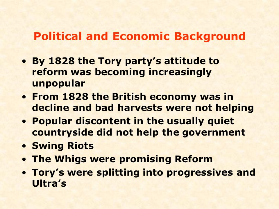 Political and Economic Background