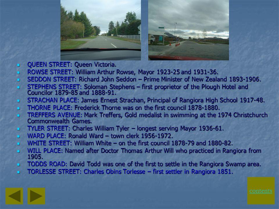 contents QUEEN STREET: Queen Victoria.