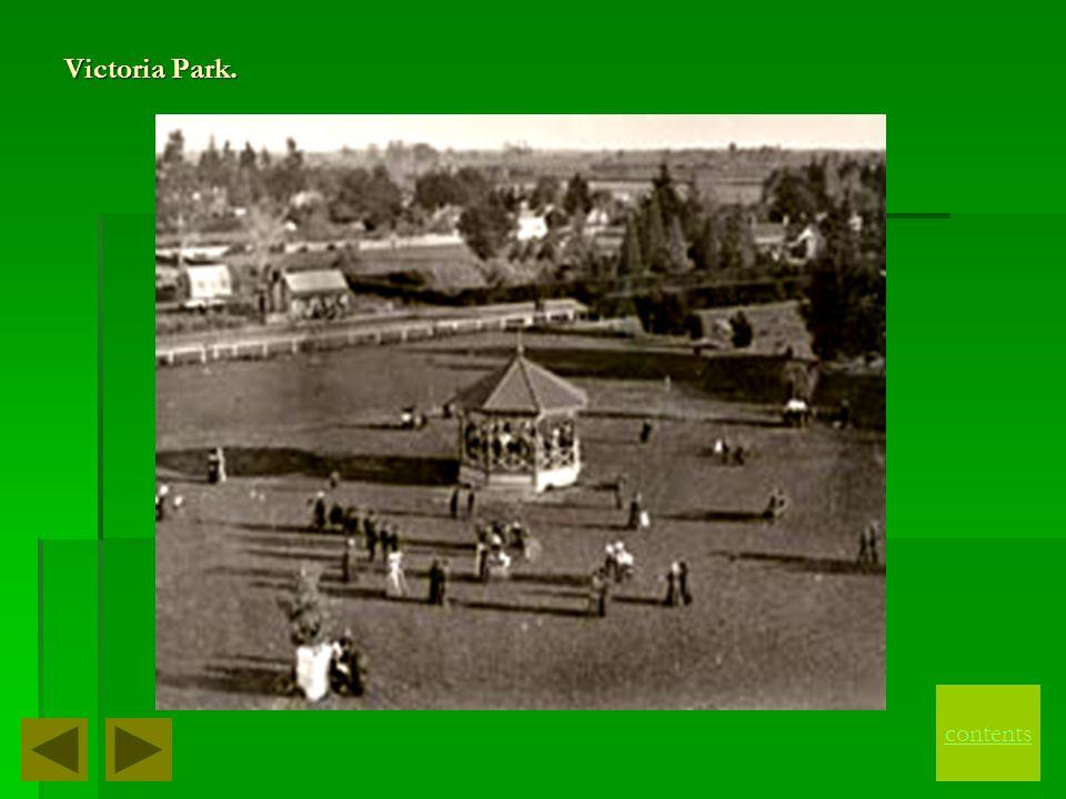 Victoria Park. contents